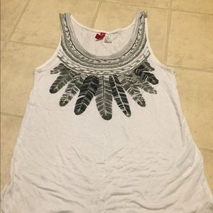 Feather racer back tank